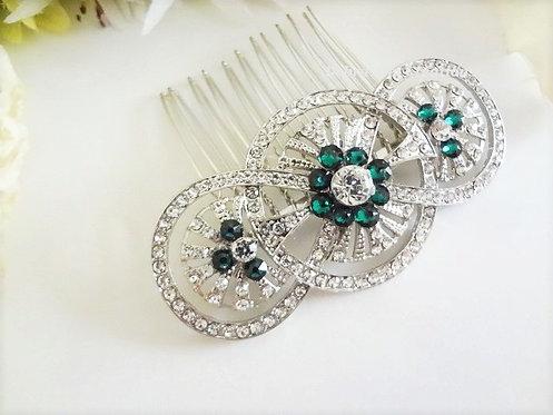 Crystal Art Deco Wedding Hair Comb HRACC8004
