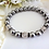 Thumbnail: Grey Pearl and Crystal Bridal Bracelet Set BRSTPL2004