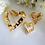 Thumbnail: Vintage Avon Gold Heart Brooch and Earrings Set