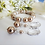 Thumbnail: Pearl and Pave Crystal Wedding Bracelet Set BRSTPL2002