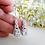 Thumbnail: Cubic Zirconia Teardrop Pendant Wedding Necklace and Earrings Set BRNKST5001