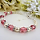 Thumbnail: Pearl and Rose Pink Crystal Clasp Birthstone Bracelet BRTHBR1007