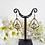 Thumbnail: Antique Brass Hammered Triangle Teardrop Oval Hoop Earrings FSER7011