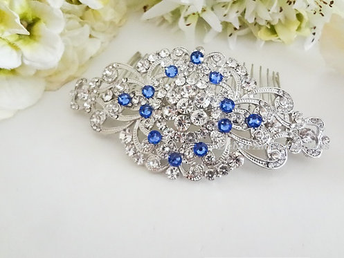 Swarovski Crystal and Clear Rhinestone Hair Comb