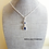 Thumbnail: Sapphire Cubic Zirconia Teardrop Pendant Necklace BRNK6013