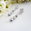 Thumbnail: Pearl and Crystal Tear Drop Wedding Earrings BRER4016