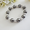 Thumbnail: Swarovski Pearl and Round Pave Crystal Wedding Bracelet