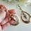 Thumbnail: Long Copper Teardrop Boho Earrings FSER7003