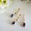 Thumbnail: Gold Sapphire Cubic Zirconia Baguette Necklace and Earrings Set #BRNKST5016