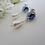 Thumbnail: Sapphire and Pearl Teardrop Wedding Earrings BRER4048