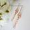 Thumbnail: Long Cubic Zirconia Gold Bridal Earrings