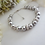Thumbnail: Swarovski Grey Pearl and Pave Crystal Clasp Bridal Bracelet