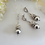 Thumbnail: Pearl and Crystal Pave Drop Bridal Necklace Set BRNKST5010