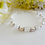 Thumbnail: Swarovski Pearl and Crystal Clasp Wedding Bracelet