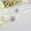 Thumbnail: Micro Pave Cubic Zirconia Oval Wedding Hair Pins HRACC8007