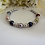 Thumbnail: Light Grey Pearl Family Birthstone Clasp Bracelet MBR9005
