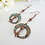 Thumbnail: Antique Brass Donut Hoop Long Earrings