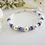 Thumbnail: Swarovski Pearl and Sapphire Crystal Clasp Wedding Bracelet
