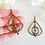 Thumbnail: Antique Brass Hammered Triangle Teardrop Oval Hoop Earrings