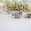 Thumbnail: Pearl and Cubic Zirconia Crystal Wedding Earrings BRER4036