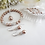 Thumbnail: Pearl and Crystal Pave Drop Necklace and Earrings Set BRNKST5006