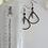 Thumbnail: Hammered Gunmetal Long Triangle Teardrop Spike Earrings
