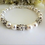 Thumbnail: Swarovski Pearl and Round Crystal Pave Clasp Bridal Bracelet