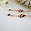 Thumbnail: Long Sapphire Cubic Zirconia Gold Bridal Earrings