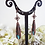 Thumbnail: Antique Copper Patina Teardrop Earrings