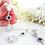Thumbnail: Cubic Zirconia Teardrop Pendant Wedding Necklace and Earrings Bridal Jewelry Set
