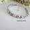 Thumbnail: Swarovski Pearl and Crystal Wedding Bracelet and Drop Earrings Set