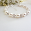 Thumbnail: Pearl and Round Crystal Pave Clasp Bridal Bracelet BRPL3021