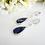 Thumbnail: Sapphire Cubic Zirconia Long Teardrop Micro Pave Bridal Earrings BRER4022