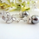 Thumbnail: Swarovski Grey Pearl and Crystal Bridal Bracelet and Earrings Set