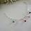 Thumbnail: Crystal Bicone Mothers Charm Bracelet MBR9007