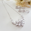 Thumbnail: Cubic Zirconia Marquise Cluster Half Collar Wedding Necklace BRNK6012