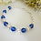Thumbnail: Pearl and Sapphire Crystal Clasp Wedding Bracelet BRPL3018