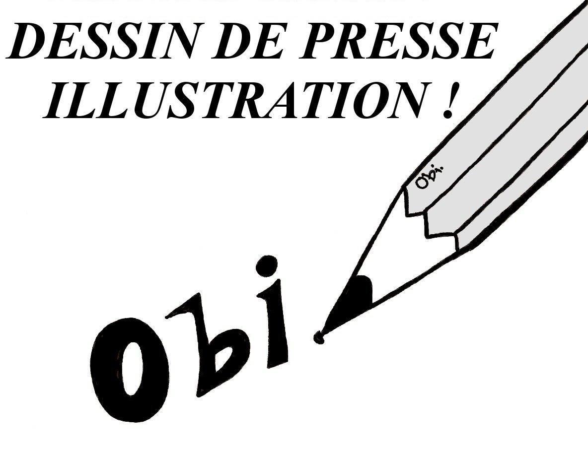 OBI DESSIN DE PRESSE ILLUSTRATION