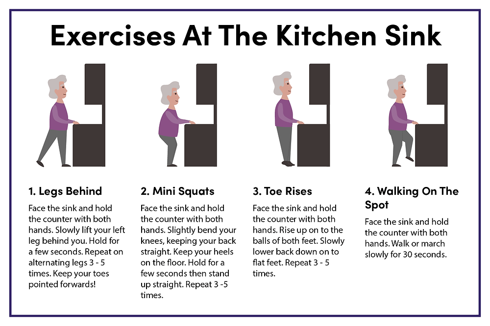 Aging in place_exercises at the kitchen sink
