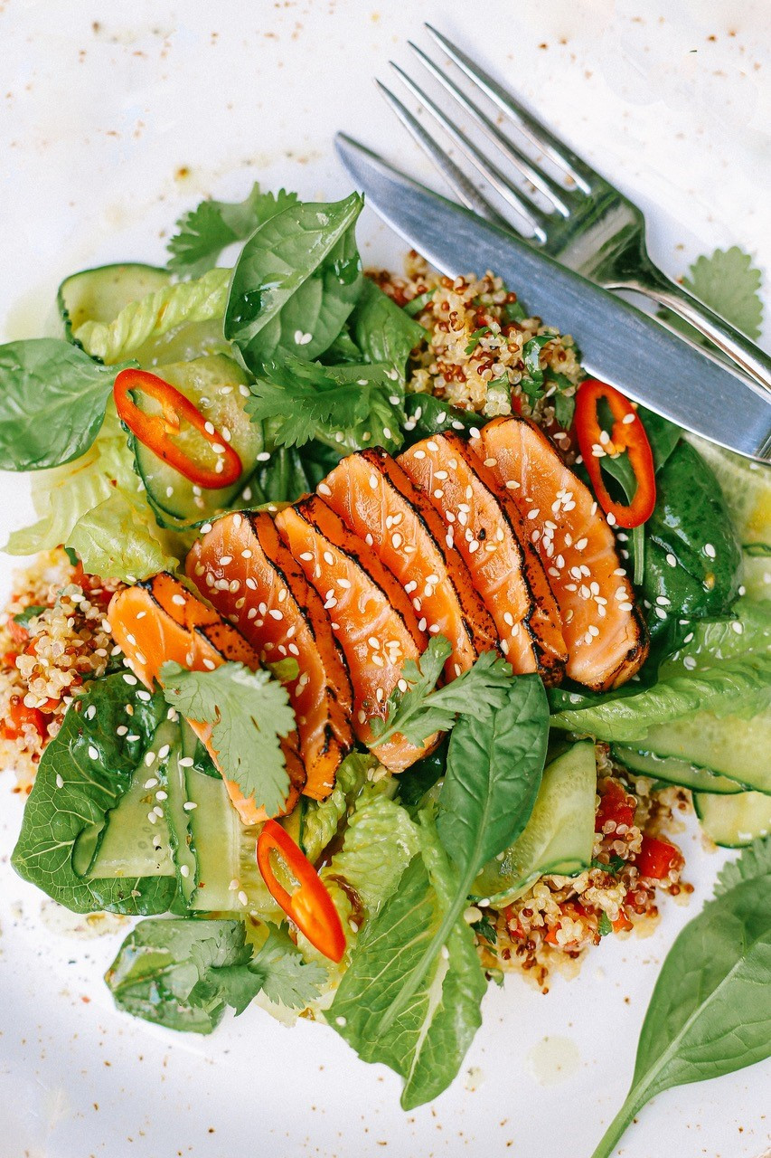 Nutrition and the neuro link_salmon and leafy greens
