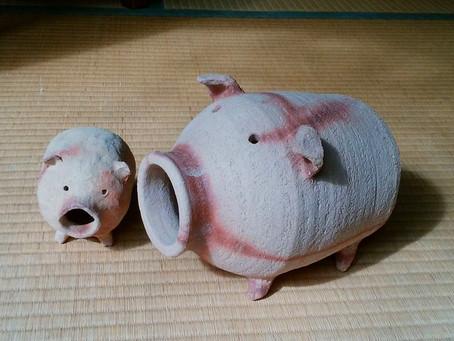 「蚊遣り豚づくり」今年も!!
