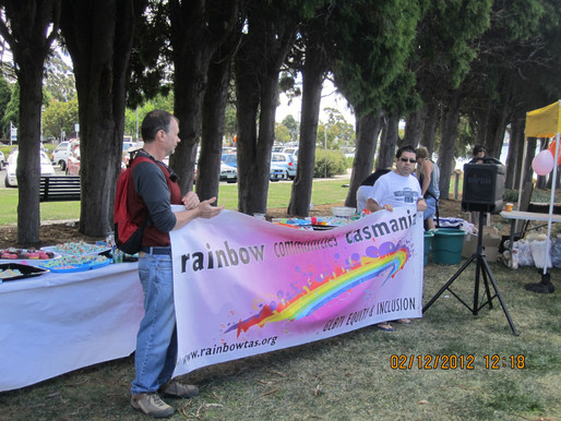 MISSING - Rainbow Communities Marching Banner