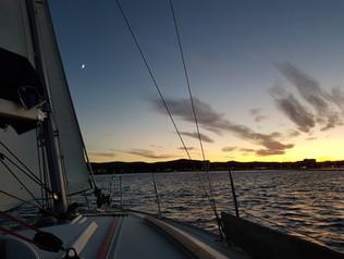 Coucher de Soleil depuis l'Océanis 323