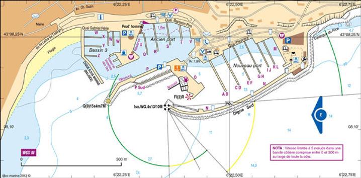 Plan port du Lavandou - OneToSea Location de Voiliers Hyères Bormes Le Lavandou