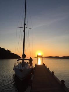 Coucher de soleil hivernal à Port-Cros