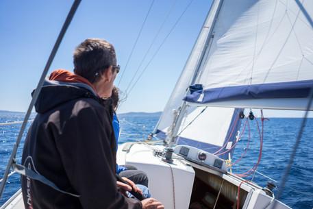 Bord de près entre Port-Cros et Porquerolles