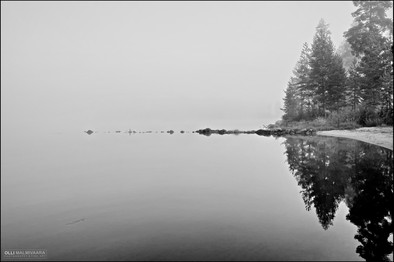 Misty August morning