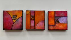 Three mini paintings
