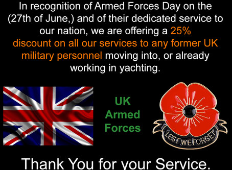 Discounts for former UK military personnel.
