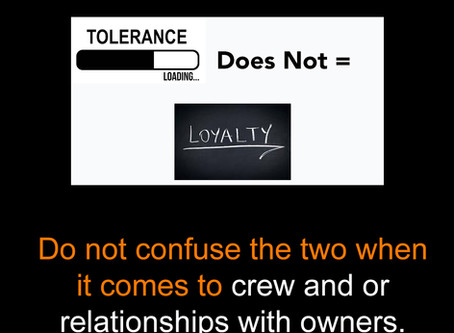 Tolerance does not equal loyalty